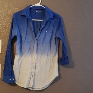 Stylus S ombre button down long sleeve